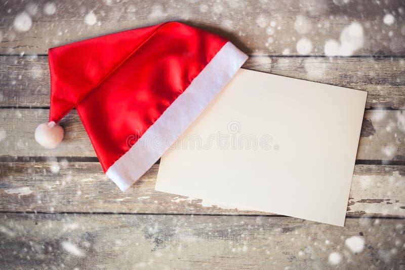 шлем santa рождества карточки стоковые изображения