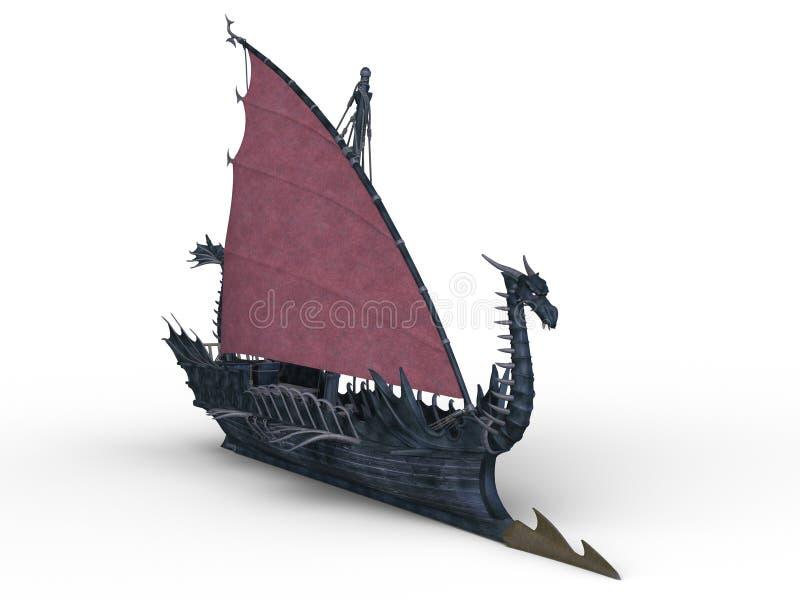 Шлюпка дракона иллюстрация вектора