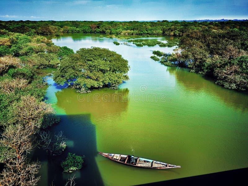 Шлюпка Естественная красота Бангладеша стоковое изображение rf