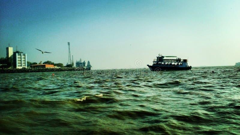 Шлюпка на mumbai, Индии стоковая фотография rf