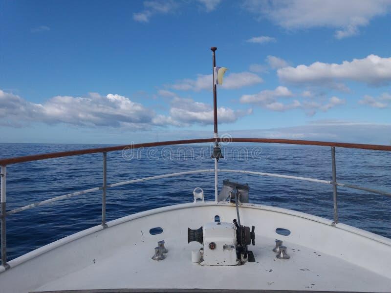 Шлюпка океана стоковая фотография rf