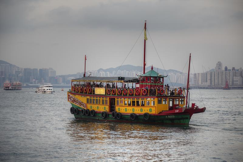 шлюпка Hong Kong стоковое изображение rf