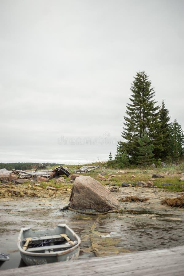 Шлюпки белого моря стоковые изображения