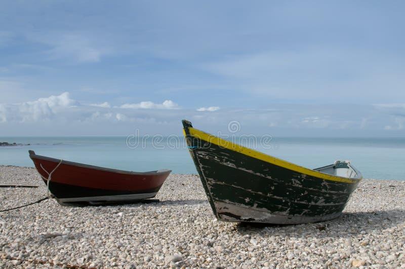 шлюпки пляжа Бесплатное Стоковое Изображение