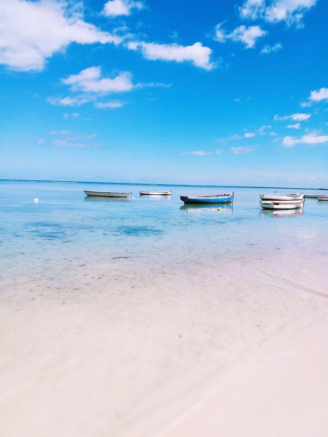 Шлюпки рыболовов острова Маврикия стоковые изображения