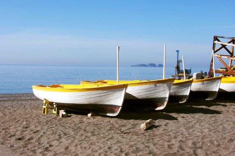 шлюпки среднеземноморские стоковое фото