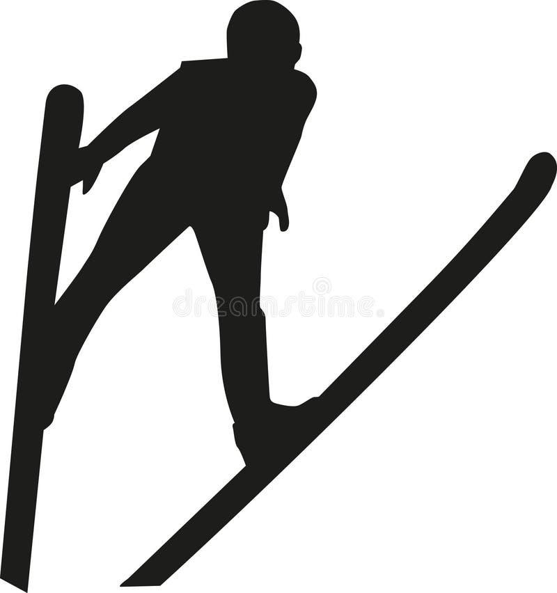 Шлямбур лыжи иллюстрация штока