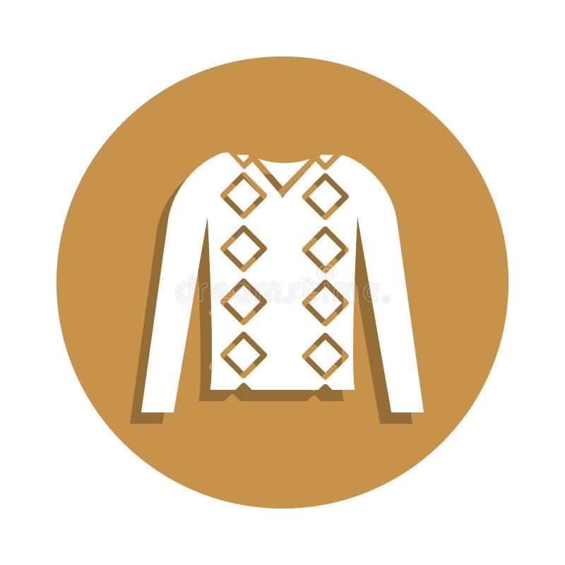 шлямбур людей одевает значок в стиле значка Одно значка собрания одежд можно использовать для UI, UX бесплатная иллюстрация