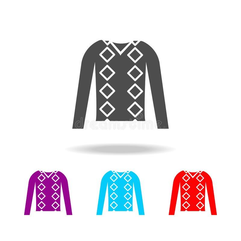 Шлямбур людей одевает значок Элементы одежд в multi покрашенных значках для передвижных apps концепции и сети Значки для дизайна  иллюстрация вектора