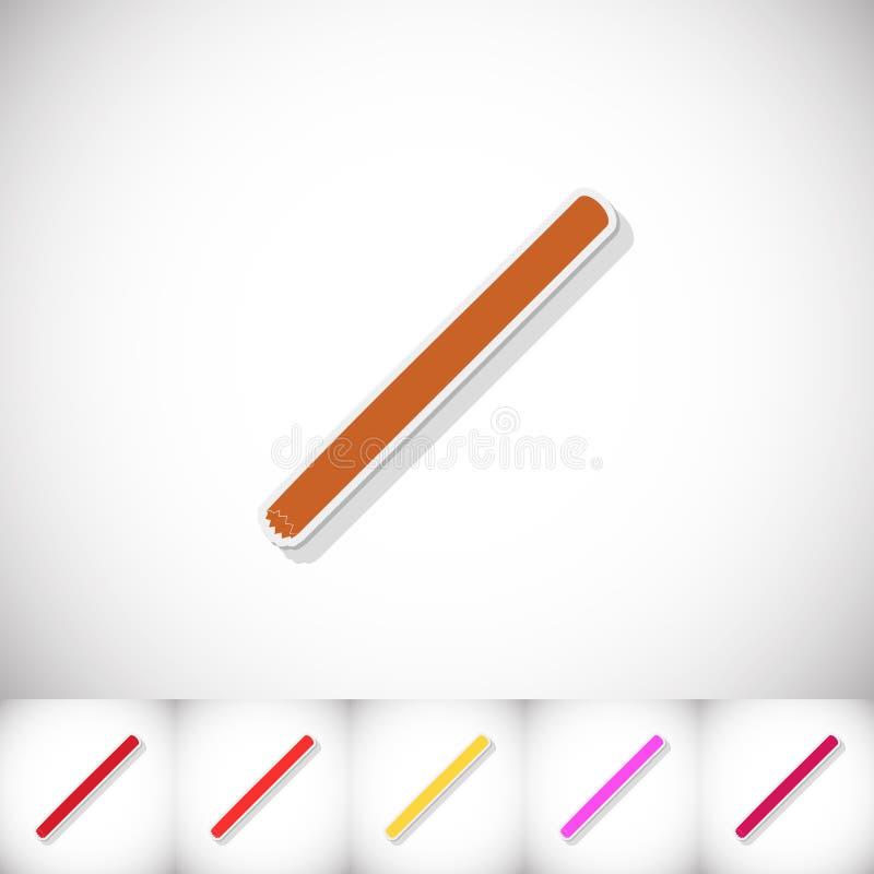 шлямбур Плоский стикер с тенью на белой предпосылке иллюстрация вектора
