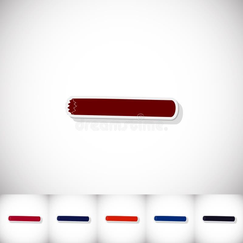 шлямбур Плоский стикер с тенью на белой предпосылке бесплатная иллюстрация