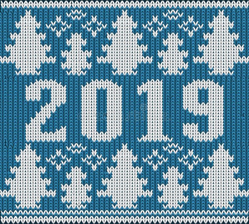 Шлямбур рождества, новый 2019 год связал текстуру, вектор бесплатная иллюстрация