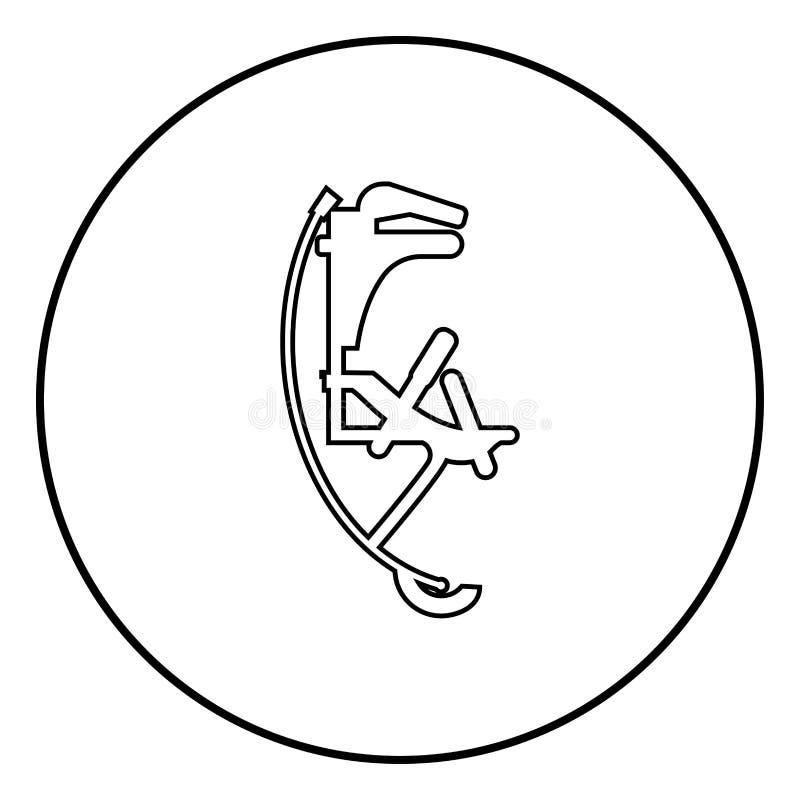 Шлямбур Skyrunner для изображения иллюстрации вектора цвета черноты значка ботинок высокого прыжка скача простого иллюстрация штока