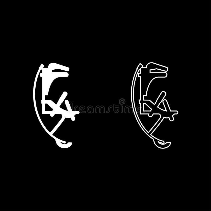 Шлямбур Skyrunner для стиля иллюстрации цвета значка ботинок высокого прыжка скача изображения установленного белого плоского про бесплатная иллюстрация