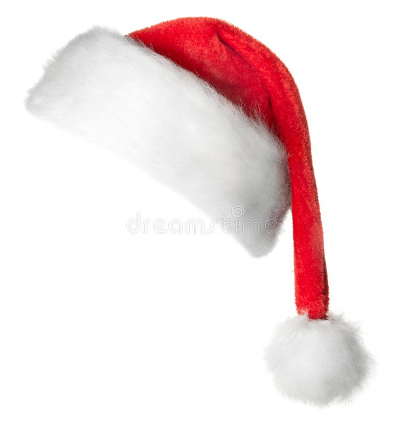 Шляпа красного цвета Санта Клауса стоковое фото
