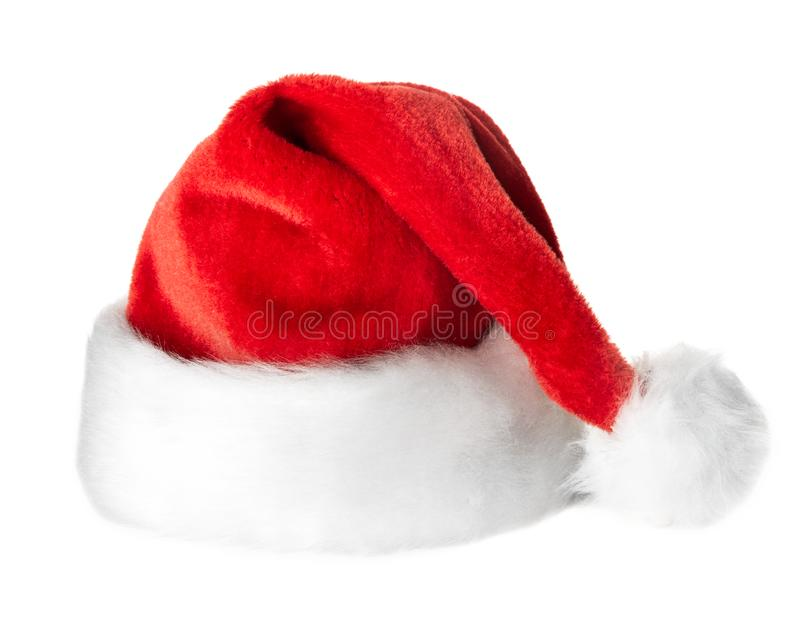 Шляпа красного цвета Санта Клауса стоковая фотография rf