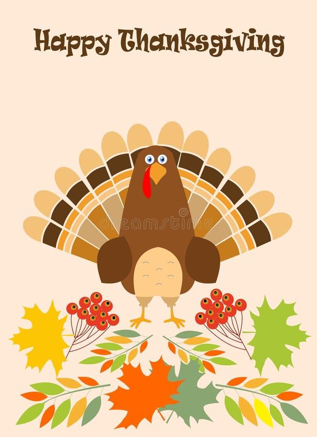 Шляпа паломника птицы индюка поздравительной открытки благодарения Смешной праздник персонажа из мультфильма бесплатная иллюстрация