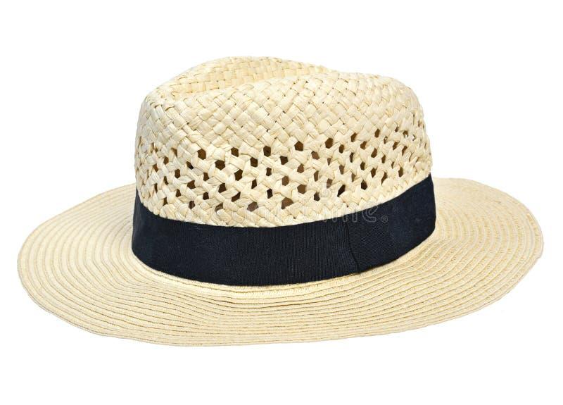 Шляпа Панамы, традиционная шляпа лета с черным hatband стоковое фото