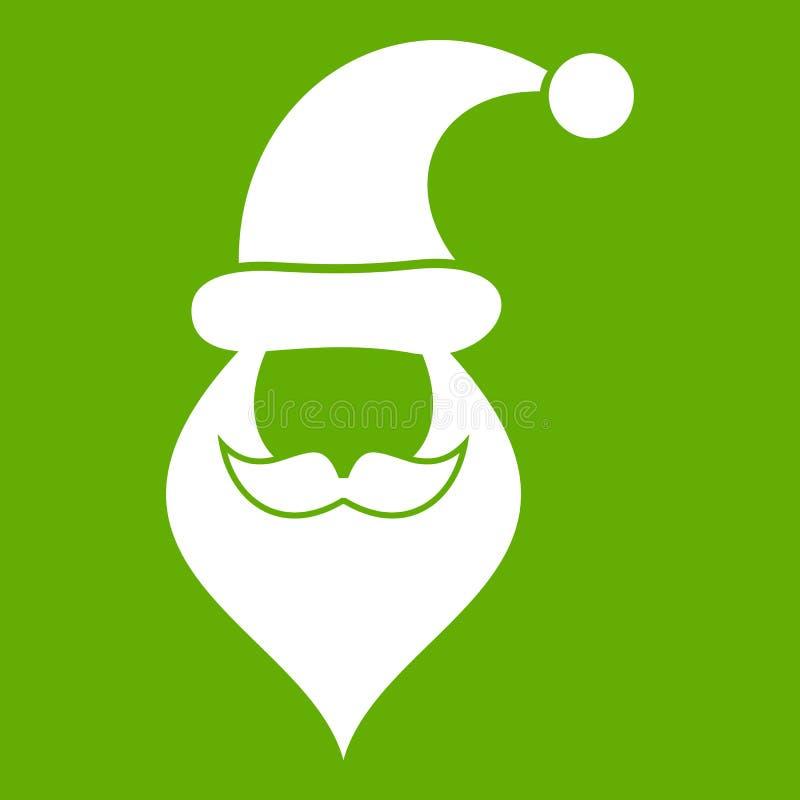 Шляпа Санты, усик и борода, простой стиль бесплатная иллюстрация