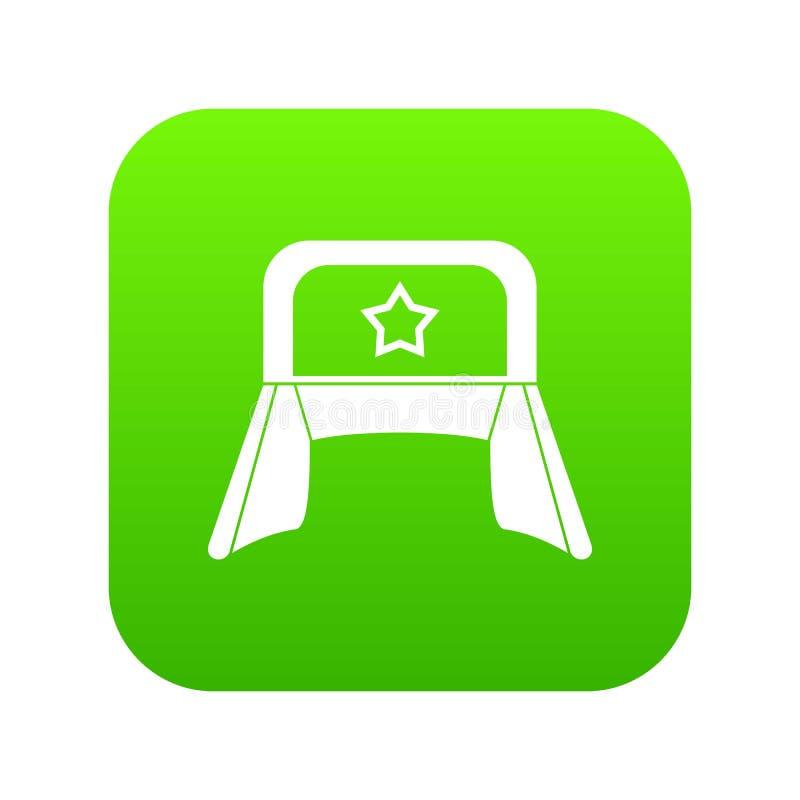 Шляпа с зеленым цветом значка earflaps цифровым бесплатная иллюстрация