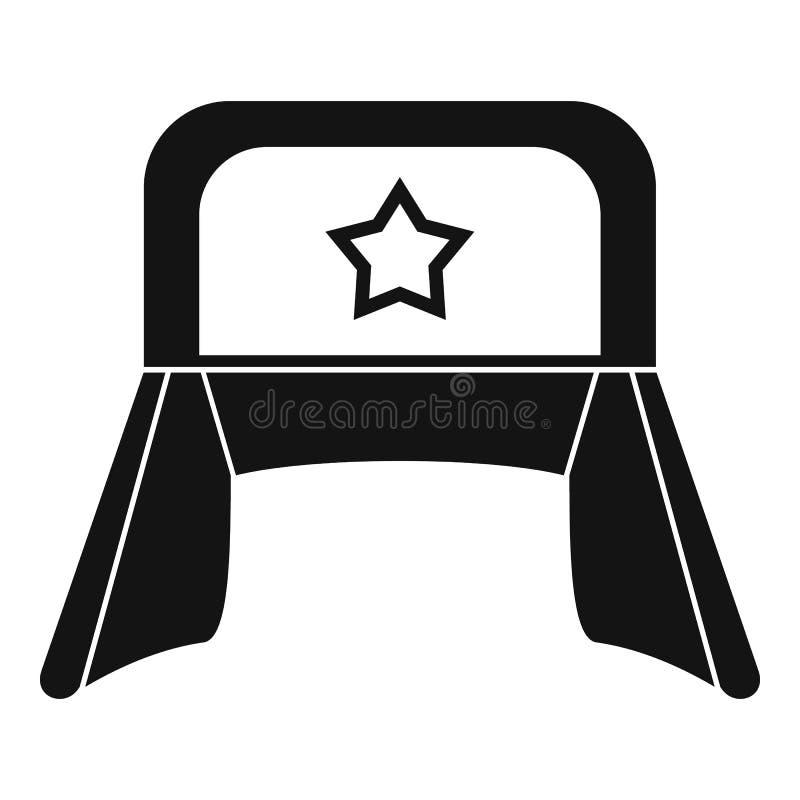 Шляпа с значком earflaps, простым стилем бесплатная иллюстрация