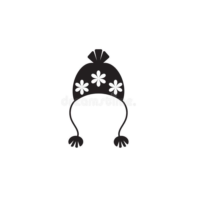 Шляпа с значком pompom иллюстрация штока