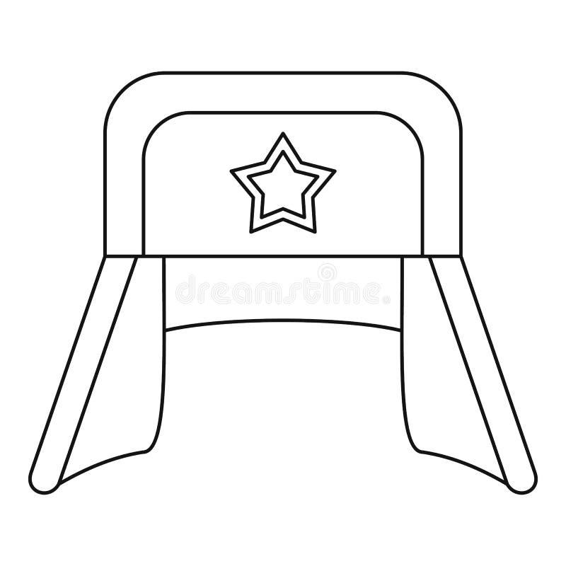 Шляпа с earflaps и значком звезды, стилем плана иллюстрация штока