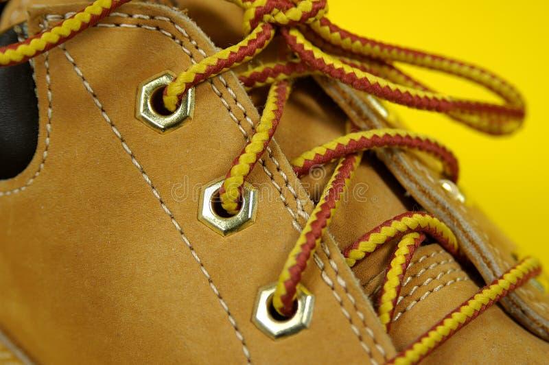 шнурки ботинка Стоковые Фотографии RF