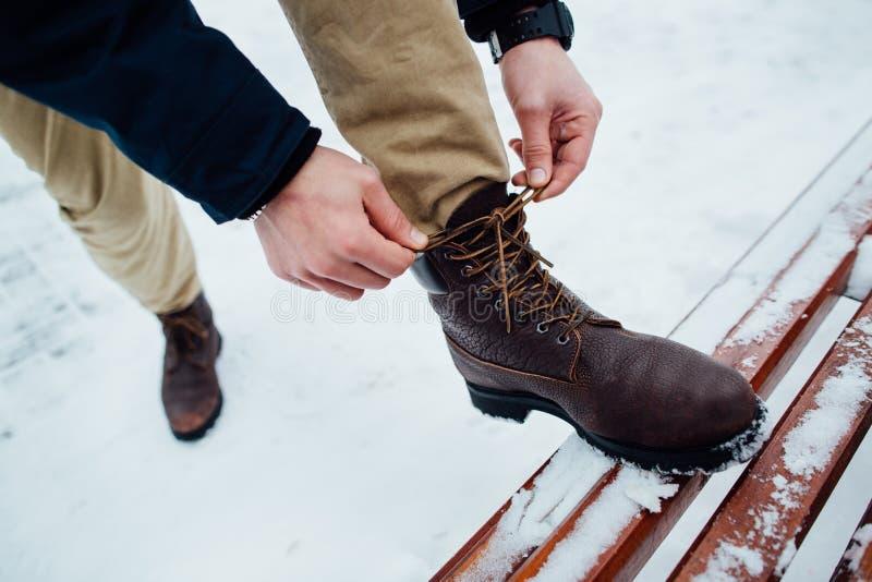 Шнурки ботинок стоковое изображение