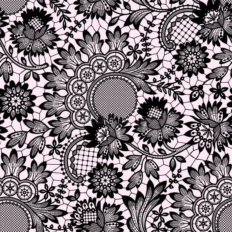 Шнурок вектора черный картина безшовная иллюстрация штока