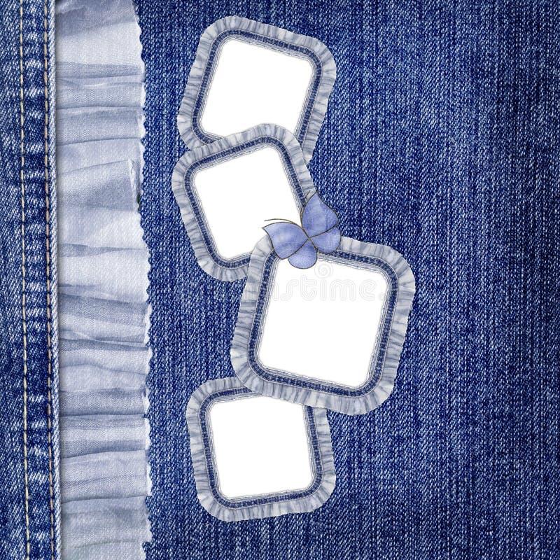 шнурок джинсыов бабочки граници предпосылки иллюстрация вектора