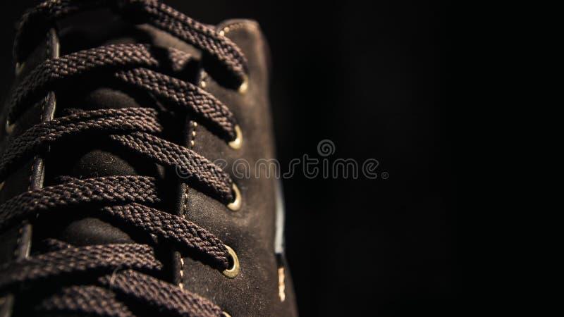 Шнурок и ботинки стоковое фото rf