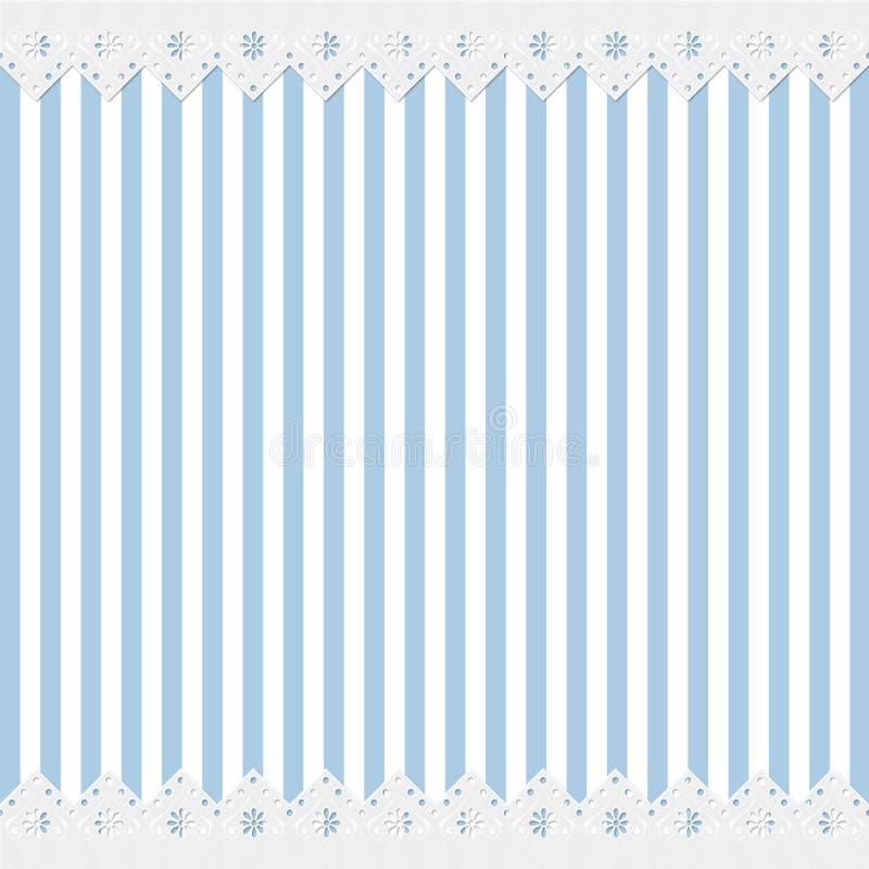 шнурок рамки предпосылки голубой иллюстрация вектора