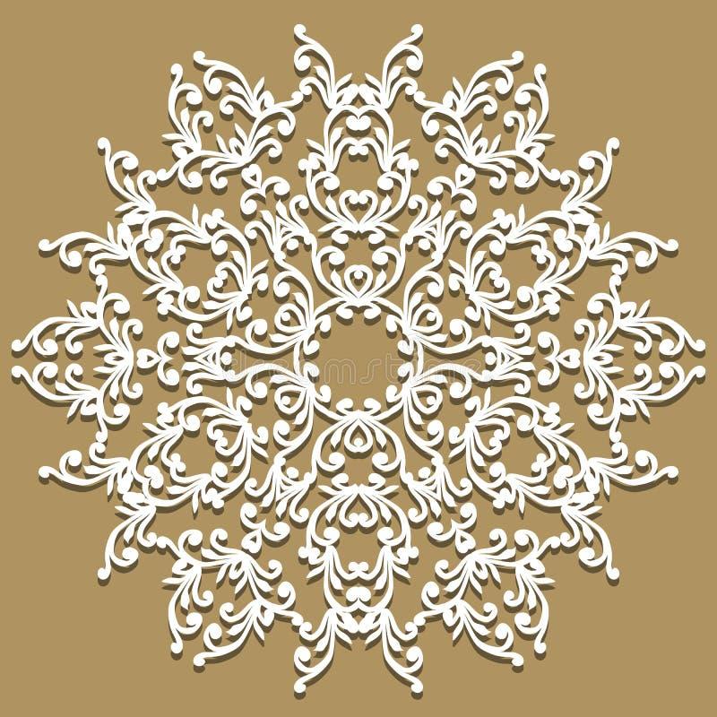 шнурок doily handmade Красивым элегантным napk связанное годом сбора винограда кружевное иллюстрация штока