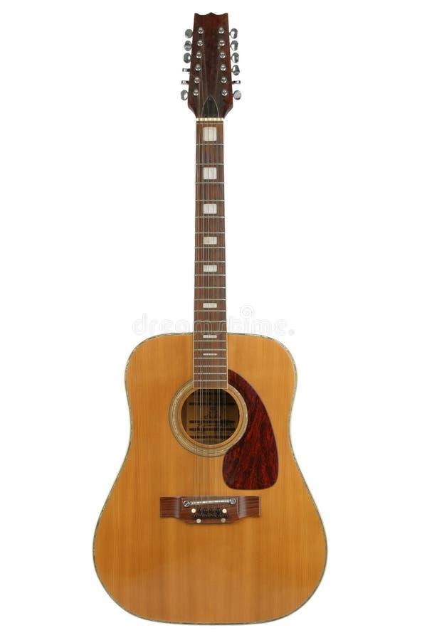 шнур акустической гитары 12 стоковые фото