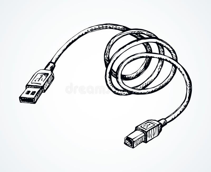 Шнур для поручать телефон r иллюстрация вектора