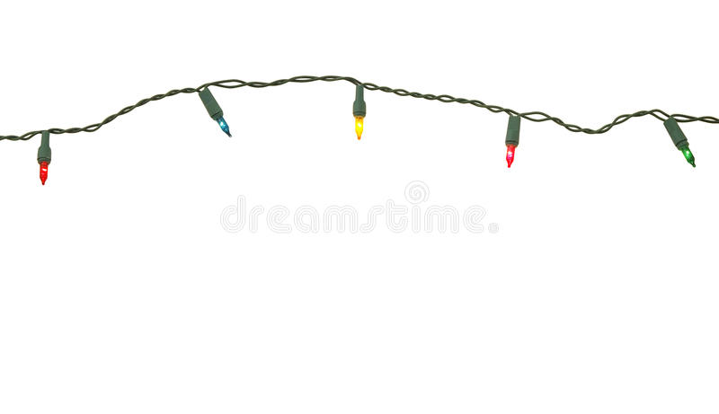 шнур светов рождества стоковая фотография rf