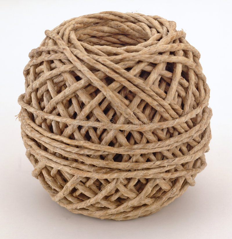 шнур шарика коричневый Стоковые Изображения