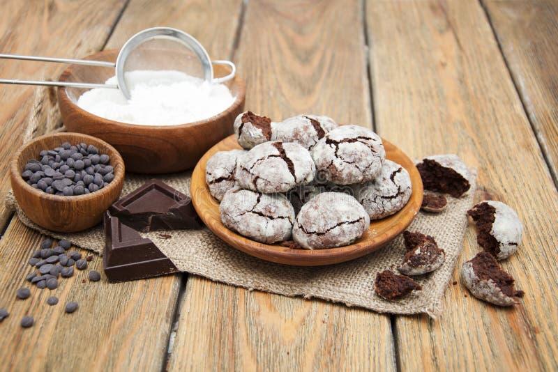 шоколадное печенье стоковые фото