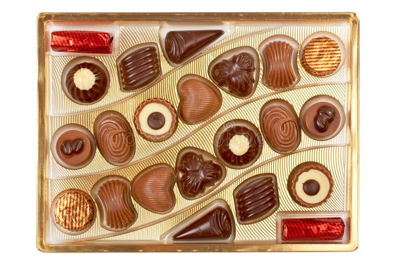 шоколады коробки стоковое изображение