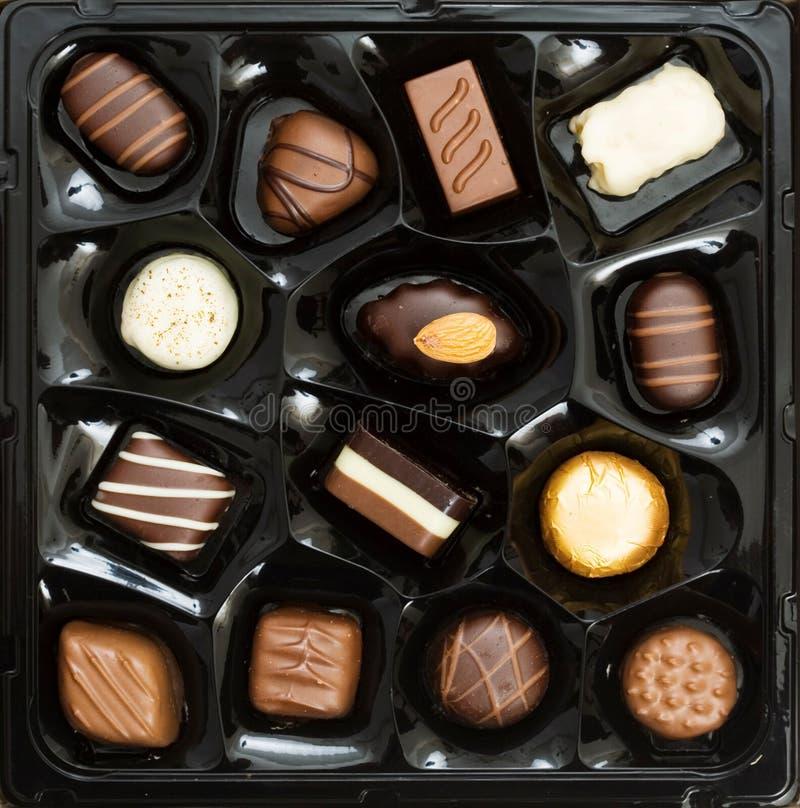 шоколады коробки стоковое фото