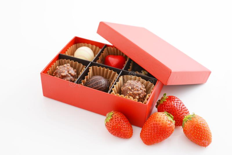 Шоколады с клубниками стоковые изображения