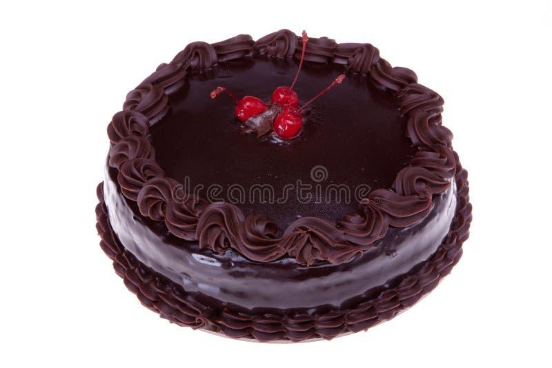 шоколад вишен торта стоковое фото rf