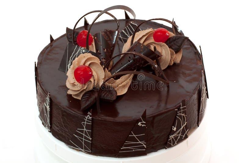 шоколад вишни торта стоковые изображения rf