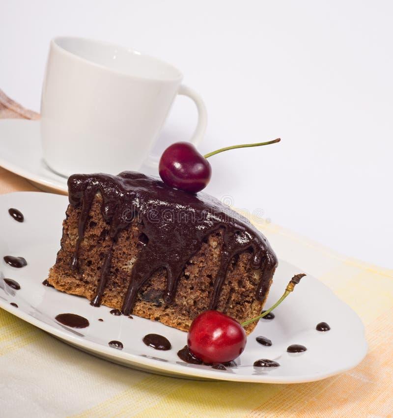 шоколад вишни торта стоковое изображение