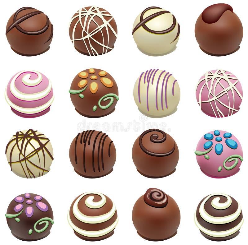 шоколад конфет иллюстрация вектора