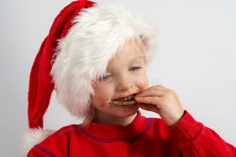 шоколад маленький santa стоковое фото