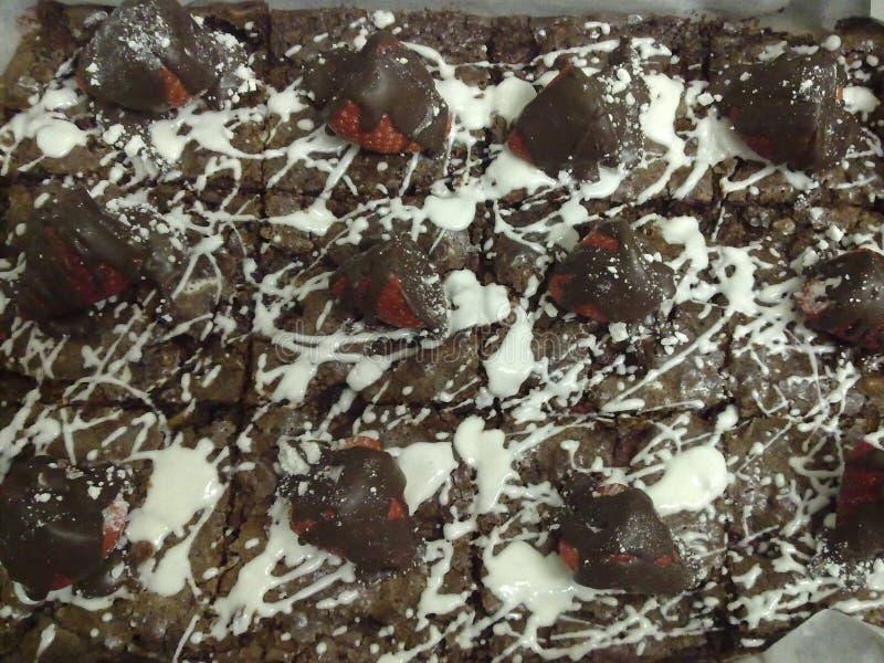 Шоколад пирожного черно-белый стоковая фотография