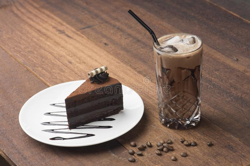 шоколад торта вкусный стоковое изображение