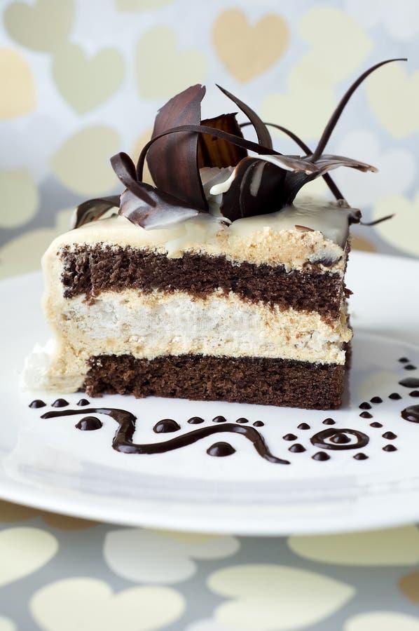 шоколад торта поднял стоковые фотографии rf